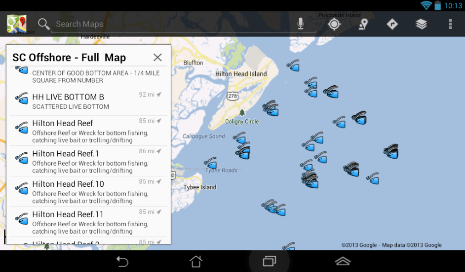 north carolina fishing maps with fishing spots for your